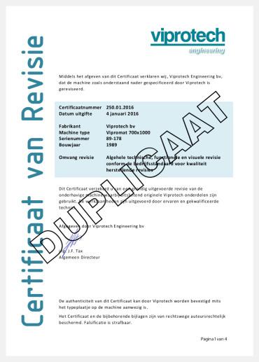 Certificaat van Revisie