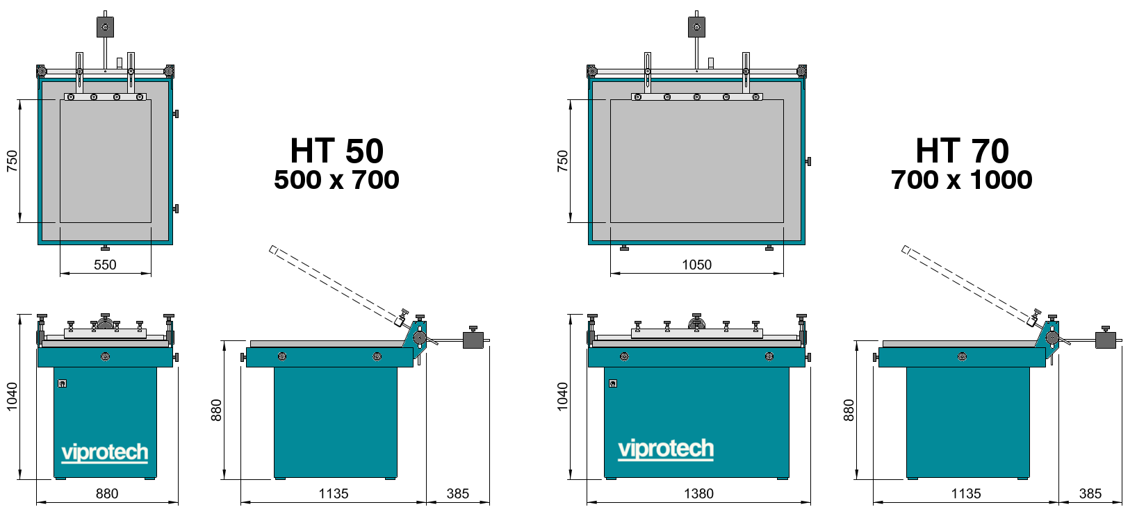 Viprotech-Dimensions-HT50-HT70
